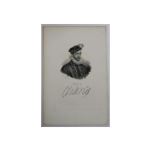 F.S. DELPECH ( 1778 - 1825 )  -  CHARLES IX   ,  LITOGRAFIE MONOCROMA , CCA. 1820