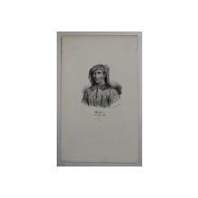 F.S. DELPECH ( 1778 - 1825 )  -  CHARLES VI DIT LE BIEN  - AIME ,  LITOGRAFIE MONOCROMA , CCA. 1820