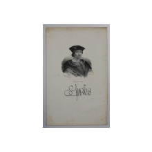 F.S. DELPECH ( 1778 - 1825 )  -  CHARLES VIII  ,  LITOGRAFIE MONOCROMA , CCA. 1820