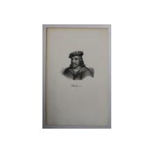 F.S. DELPECH ( 1778 - 1825 )  -  CHILDERIC 1 er ,  LITOGRAFIE MONOCROMA , CCA. 1820