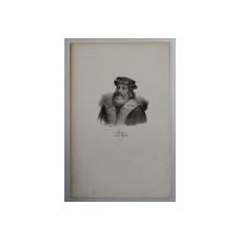F.S. DELPECH ( 1778 - 1825 )  -  CLODION DIT LE CHEVELU,  LITOGRAFIE MONOCROMA , CCA. 1820