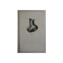 F.S. DELPECH ( 1778 - 1825 )  - CLOVIS III , LITOGRAFIE MONOCROMA , CCA. 1820