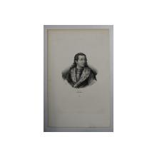 F.S. DELPECH ( 1778 - 1825 )  -  EUDES ,  LITOGRAFIE MONOCROMA , CCA. 1820