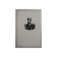 F.S. DELPECH ( 1778 - 1825 )  - LOTHAIRE III , LITOGRAFIE MONOCROMA , CCA. 1820