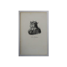 F.S. DELPECH ( 1778 - 1825 ) , LOUIS ET CARLOMAN , LITOGRAFIE MONOCROMA , CCA. 1820