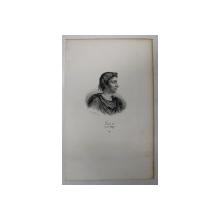 F.S. DELPECH ( 1778 - 1825 )  - LOUIS II DIT LE BEGUE ,  LITOGRAFIE MONOCROMA , CCA. 1820