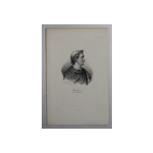 F.S. DELPECH ( 1778 - 1825 )  - LOUIS IV DIT D'OUTREMER , LITOGRAFIE MONOCROMA , CCA. 1820