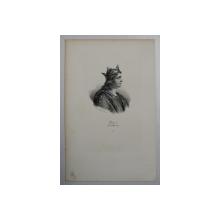 F.S. DELPECH ( 1778 - 1825 )  -  LOUIS V DIT LE FAINEANT,   LITOGRAFIE MONOCROMA , CCA. 1820