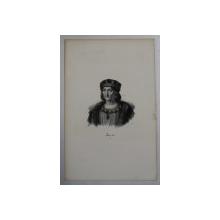 F.S. DELPECH ( 1778 - 1825 )  -  LOUIS XII  ,  LITOGRAFIE MONOCROMA , CCA. 1820