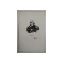 F.S. DELPECH ( 1778 - 1825 )  - LOUIS XVIII ,  LITOGRAFIE MONOCROMA , CCA. 1820