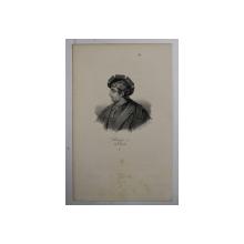 F.S. DELPECH ( 1778 - 1825 )  - PHILIPPE III DIT LE HARDI , LITOGRAFIE MONOCROMA , CCA. 1820