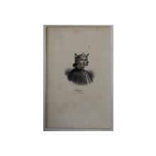 F.S. DELPECH ( 1778 - 1825 )  -  PHILIPPE V ,  DIT LE LONG   ,  LITOGRAFIE MONOCROMA , CCA. 1820