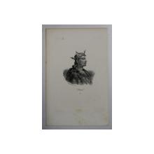 F.S. DELPECH ( 1778 - 1825 )  -  RAOUL ,  LITOGRAFIE MONOCROMA , CCA. 1820