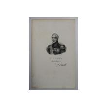 F.S. DELPECH ( 1778 - 1825 )  -  S. M. CHARLES X , ROI DE FRANCE ,  LITOGRAFIE MONOCROMA , CCA. 1820