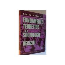 FUNDAMENTE TEORETICE LA O SOCIOLOGIE A DECIZIEI de ADRIAN NETEDU , 2005