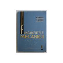 FUNDAMENTELE MECANICII de Z. GABOS ...I. STAN , 1962