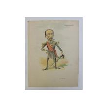 G - l BUDISTEANU ' G-l CIOMAG ' , CARICATURA , LITOGRAFIE de pictorul NICOLAE PETRESCU - GAINA 1871 - 1931 , 1898