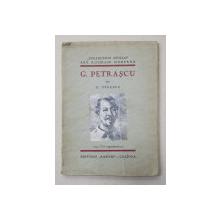 G .  PETRASCU par G . OPRESCU , 1931 , DEDICATIE*