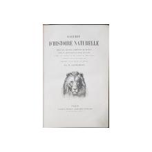 GALERIE D'HISTOIRE NATURELLE, TIREE DES OEUVRES COMPLETES DE BUFFON par M. SAINTE-BEUVE - PARIS, 1879