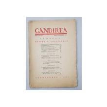 GANDIREA , ANUL XXII , NR. 7 , NUMAR DEDICAT LUI V. VOICULESCU , AUGUST - SEPTEMBRIE 1943 , COPERTELE DEZLIPITE SI REFACUTE *