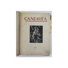 GANDIREA , REVISTA , ANII IV si V , COLEGAT DE 15 NUMERE APARUTE INTRE OCTOMBRIE 1924 - IUNIE 1925