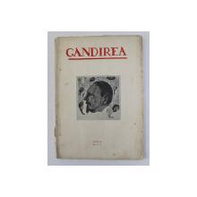 GANDIREA , REVISTA , ANUL  X  , NR. 8- 9  , AUGUST - SEPTEMBRIE , 1930