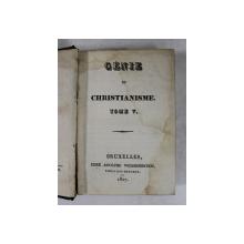 GENIE DU CHRISTIANISME , TOME V , par CHATEAUBRIAND , 1827 , PREZINTA PETE SI HALOURI DE APA *