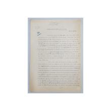 GEO BOGZA  - IN PROVINCIE    - ARTICOL PENTRU ZIAR , DACTILOGRAFIAT , CU CORECTURILE,  MODIFICARILE SI ADAUGIRILE OLOGRAFE ALE AUTORULUI , 1935