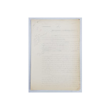 GEO BOGZA  - ORELE ORASULUI  - ARTICOL PENTRU ZIAR , DACTILOGRAFIAT , CU CORECTURILE,  MODIFICARILE SI ADAUGIRILE OLOGRAFE ALE AUTORULUI , 1937