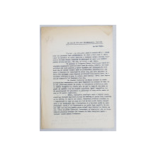 GEO BOGZA  - PE ICI , PE COLO , SAU NEINTERVENTIA ITALIANA   - ARTICOL PENTRU ZIAR , DACTILOGRAFIAT , CU CORECTURILE,  MODIFICARILE SI ADAUGIRILE OLOGRAFE ALE AUTORULUI , 1938