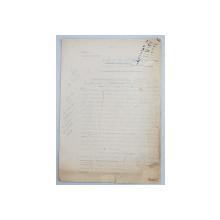 GEO BOGZA  - PROFESIE DE CREDINTA  - ARTICOL PENTRU ZIAR , DACTILOGRAFIAT , CU CORECTURILE,  MODIFICARILE SI ADAUGIRILE OLOGRAFE ALE AUTORULUI , 1934