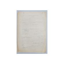 GEO BOGZA  - SATE INTREGI PLINE DE MOARTE SI JALE  - ARTICOL PENTRU ZIAR , DACTILOGRAFIAT , CU CORECTURILE,  MODIFICARILE SI ADAUGIRILE OLOGRAFE ALE AUTORULUI , 1936
