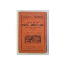 GEOGRAFIA EUROPEI SI A AMERICII DE NORD PENTRU CLASA III - A SECUNDARA BAIETI SI FETE , EDITIA I - A de VIRGIL HILT si ELENA BUNGETZIANU  , 1935