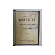 GEOGRAFIA ROMANIEI SI A TERILOR VECINE LOCUITE DE ROMANI de CONSTANTIN CALMUSCHI , 1897 *EDITIA I