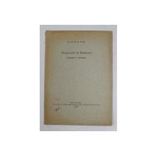 GEOGRAFIA W RUMUNII - GEOGRAPHIE IN RUMANIEN von NICOLAE M. POPP , 1939 , DEDICATIE *