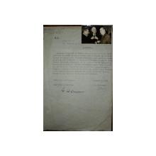 GEORGE CALINESCU, INVITATIE CATRE SECRETARIATUL UNIUNII SCRIITORILOR DIN ROMANIA