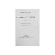 GERMINIE LACERTEUX par EDMOND et JUELS DE GONCOURT ,  dix compositions par JEANNIOT , gravees a l ' eau - forte par L. MULLER , 1886