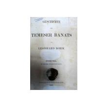 GESCHICHTE DES TEMESER BANATS -LEONHARD BOHM- LEIPZIG  1861