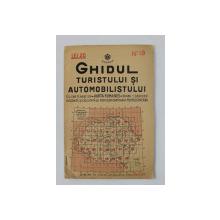 GHIDUL TURISTULUI SI AUTOMOBILISTULUI , HARTA ROMANIEI ,  CAROUL  18 - IASI - ROMAN -,BACAU - VASLUI   de M.D. MOLDOVEANU , 1936