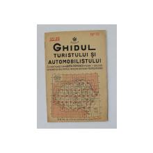 GHIDUL TURISTULUI SI AUTOMOBILISTULUI , HARTA ROMANIEI ,  CAROUL 19  - CHISINAU - ORHEI - HUSI de  M.D. MOLDOVEANU , 1936