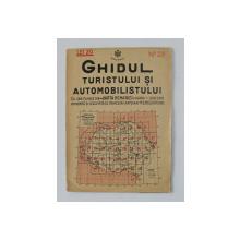 GHIDUL TURISTULUI SI AUTOMOBILISTULUI , HARTA ROMANIEI ,  CAROUL 23  -  TIMISOARA - ARAD   de M.D. MOLDOVEANU , 1936