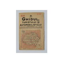 GHIDUL TURISTULUI SI AUTOMOBILISTULUI , HARTA ROMANIEI ,  CAROUL 39  - PLOIESTI - BUZAU  de M.D. MOLDOVEANU , 1936