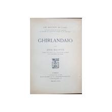 GHIRLANDAIO par HENRI HAUVETTE - PARIS, 1907