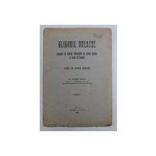 GLIGORIE UREACHE - STUDIU DE ISTORIE LITERARA de GIORGE PASCU , 1920