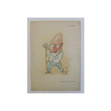 GR. VENTURA , ' SVANTURAT AVENTURIER VENTURA ' , CARICATURA , LITOGRAFIE de pictorul NICOLAE PETRESCU - GAINA 1871 - 1931 , 1898