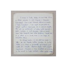 GRAFICIAN PETRE GRANT 1904 - 1990  , SCRISOARE OLOGRAFA , 1965