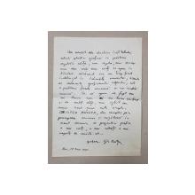 GRAFICIANUL GH. BOTAN 1926 - 2016 , SCRISOARE SEMNATA OLOGRAF , 1965