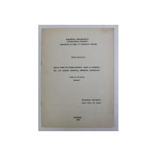 GRAIUL POLON DIN POIANA MICULUI , PIESA SI SOLONETUL NOU , JUD. SUCEAVA (FONETICA , FONOLOGIE , MORFOLOGIE) , TEZA DE DOCTORAT - REZUMAT - de ELENA DOBOVEANU , 1968