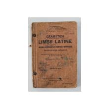 GRAMATICA LIMBII LATINE - NOTIUNI ELEMENTARE DE STILISTICA SI VERSIFICATIE PENTRU CURSUL SECUNDAR de TH. SIMENSCHY , 1935 , PREZINTA INSEMNARI CU STILOUL *