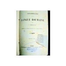 GRAMMAIRE DE LA LANGUE ROUMAINE   - A. UBICINI  -PARIS 1886